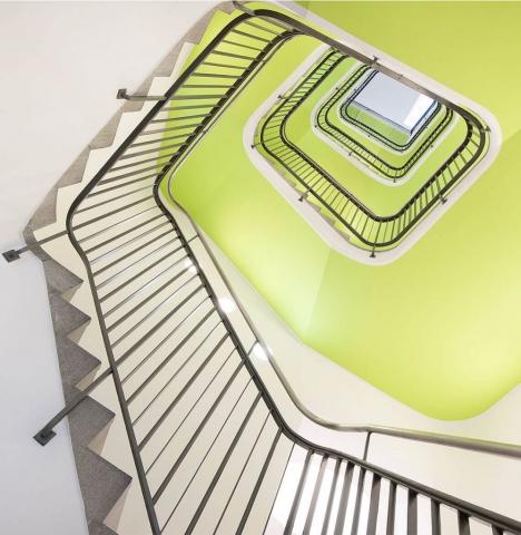 gruenes Treppenhaus