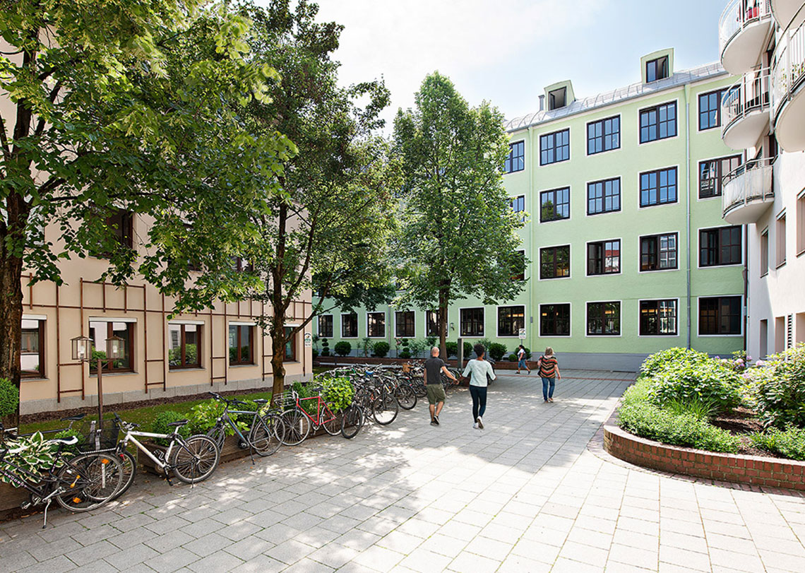 gruener Innenhof Citypark
